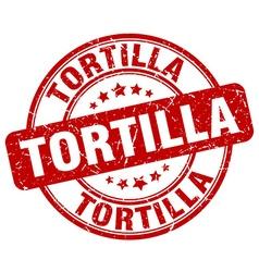 Tortilla red grunge round vintage rubber stamp vector