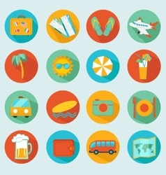 Travelling icons set vector image vector image