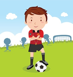 Umpire Soccer vector image vector image