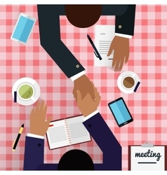 Work Space Meeting Design Flat vector image vector image