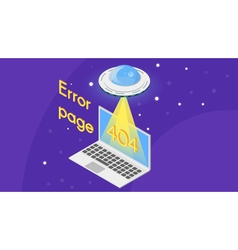 404 error page template for website vector