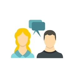 Sms chat friends icon flat style vector