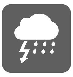 Thunderstorm Flat Squared Icon vector image