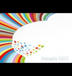 Rainbow corner element vector