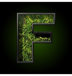 Grass cutted figure f vector