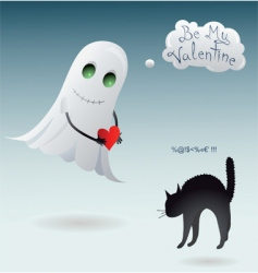 scary valentine vector image