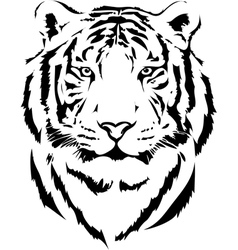 Tiger head in black interpretation vector