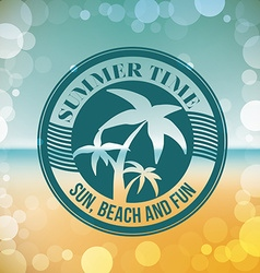 Summer time design vector