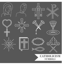 Catholic symbols vector