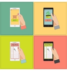 Mobile shopping and news vector