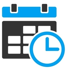 Date and time icon vector