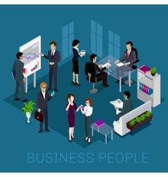 Isometric business people design vector