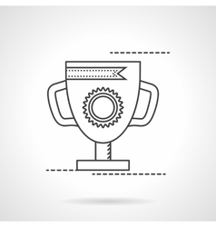 The best award cup flat line icon vector