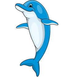 Dolphin cartoon vector image