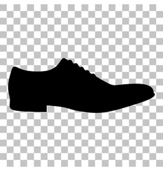 Men shoes sign flat style black icon on vector