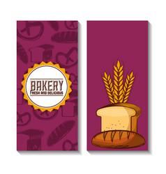 Bakery shop always fresh vector