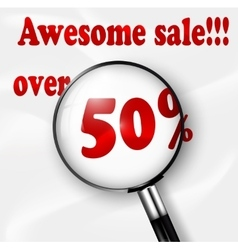 Big Sale tags with Sale 50 percent vector image