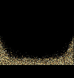 black background with gold stars vector image vector image