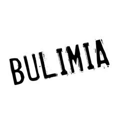 Bulimia rubber stamp vector