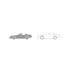car grey set icon vector image vector image