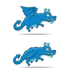 Cartoon dragon character vector