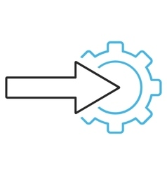 Cog integration outline icon vector