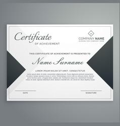 Elegant certificate design or diploma template vector