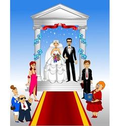funny wedding vector image