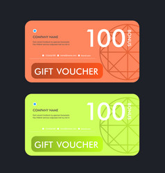 gift voucher template design vector image vector image