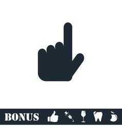 Hand cursor icon flat vector image