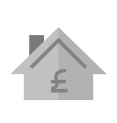 House with pound sign vector image