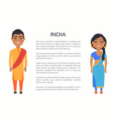 India couple and traditions vector