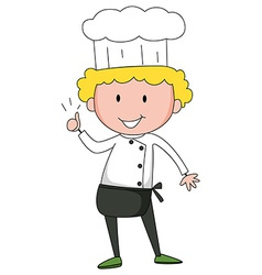 Male chef vector image