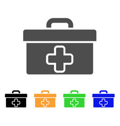 medical tools box flat icon vector image vector image
