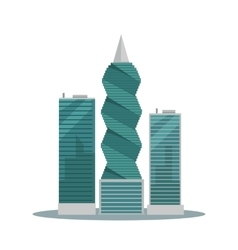 Panama-City Buildings Flat vector image vector image