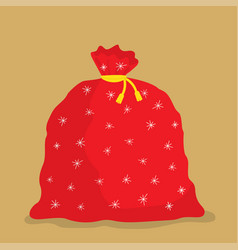 santa claus red bag vector image
