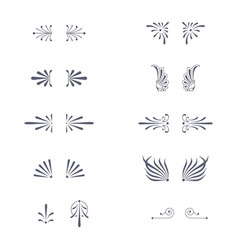 Set of decorative flourish ornaments vector
