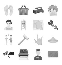 sports beauty shopping and other web icon in vector image vector image