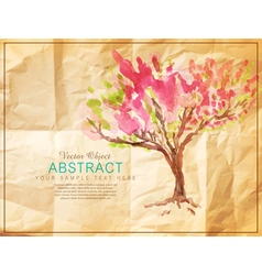 tree vs vector image vector image