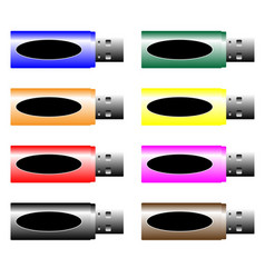 usb stick vector image vector image