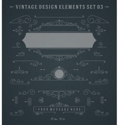 Vintage Swirls Ornaments Decorations Design vector image vector image