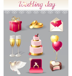 wedding icons new vector image