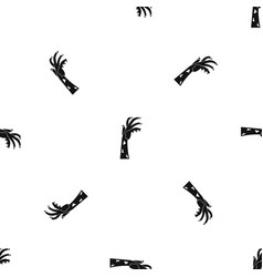 Zombie hand pattern seamless black vector