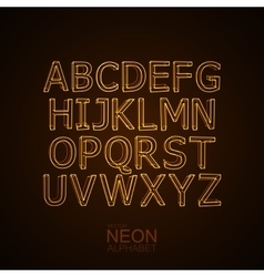 Neon 3d alphabet set vector
