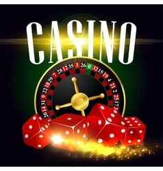 Casino wheel of fortune poster vector image