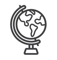 Globe line icon world and geography vector