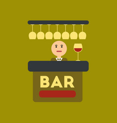 Flat icon on stylish background icon bar bartender vector