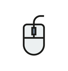 Computer mouse icon on white background vector