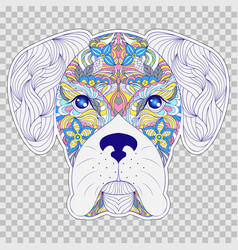 Colorful head of dog vector