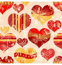 Pink seamless valentine pattern vector image